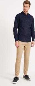 Granatowa koszula Diverse w stylu casual