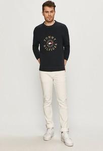 Czarny sweter Tommy Hilfiger z bawełny z okrągłym dekoltem