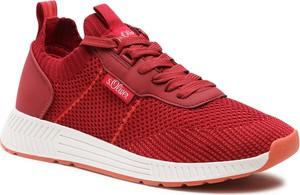 Czerwone buty sportowe S.Oliver sznurowane