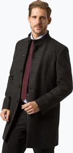 Czarny płaszcz męski Finshley & Harding