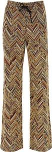 Złote spodnie Missoni z bawełny