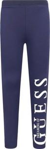 Niebieskie legginsy dziecięce Guess
