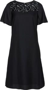 Czarna sukienka bonprix bpc selection midi w stylu glamour