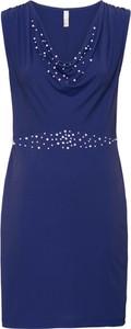 Granatowa sukienka bonprix BODYFLIRT boutique bez rękawów