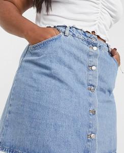 Niebieska spódnica Asos z jeansu