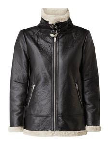 Czarna kurtka NA-KD w rockowym stylu krótka