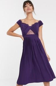 Fioletowa sukienka Asos Design midi