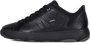 Czarne buty sportowe Geox sznurowane z tkaniny