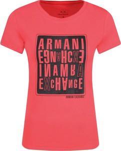 T-shirt Armani Jeans z krótkim rękawem z okrągłym dekoltem