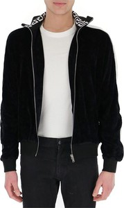 Czarna kurtka Versace z dresówki