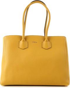 Żółta torebka Furla w stylu casual