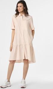 Sukienka Marc Cain z krótkim rękawem oversize z dekoltem w kształcie litery v