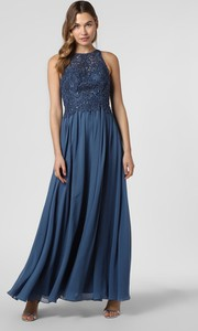 Niebieska sukienka Laona maxi rozkloszowana