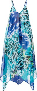 Błękitna sukienka bonprix bpc selection na plażę mini