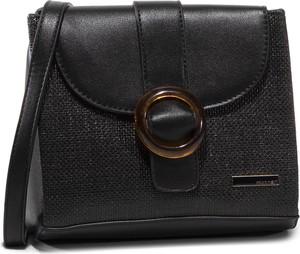 Czarna torebka eobuwie.pl matowa na ramię średnia