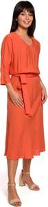 Sukienka Be z długim rękawem z tkaniny