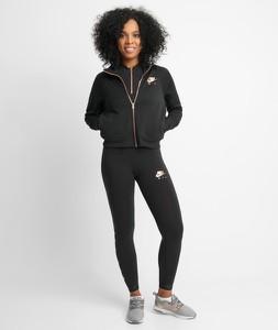 Czarna kurtka Nike w sportowym stylu z bawełny krótka