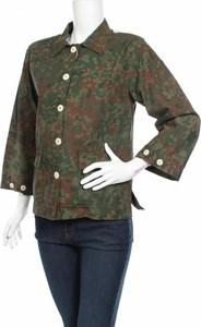 Zielona kurtka (+) People krótka w stylu casual