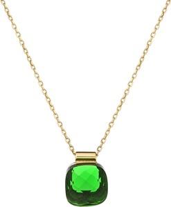 ANIA KRUK Naszynik VENUS srebrny pozłacany z zielonym kryształem