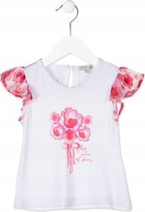 Koszulka dziecięca Oficjalny sklep Allegro w kwiatki z krótkim rękawem
