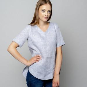 Bluzka Willsoor z krótkim rękawem w stylu casual z dekoltem w kształcie litery v