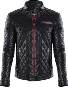 Czarna kurtka Giorgio Di Mare w młodzieżowym stylu ze skóry