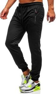 Czarne spodnie sportowe Denley z bawełny w młodzieżowym stylu