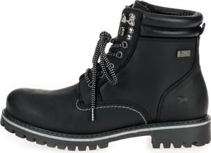 Czarne buty zimowe Mustang