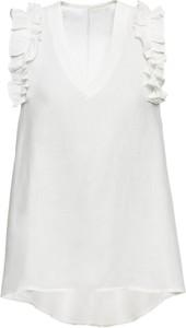 Bluzka bonprix BODYFLIRT bez rękawów z dekoltem w kształcie litery v