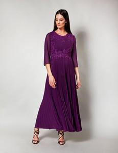Fioletowa sukienka Molton maxi z długim rękawem
