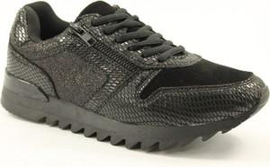 Czarne buty sportowe McArthur z płaską podeszwą sznurowane