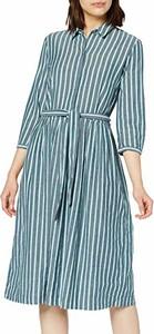 Sukienka amazon.de w stylu casual koszulowa z kołnierzykiem