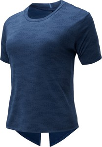 Bluzka New Balance w sportowym stylu z żakardu z okrągłym dekoltem