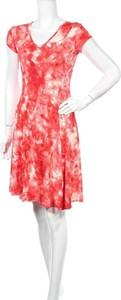 Sukienka La Fille Du Couturier mini z krótkim rękawem z dekoltem w kształcie litery v