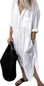 Sukienka Cikelly koszulowa z długim rękawem