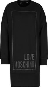 Sukienka Love Moschino z okrągłym dekoltem mini