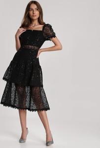 Czarna sukienka Renee midi
