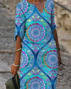 Sukienka Kendallme prosta z długim rękawem midi