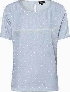 Niebieska bluzka Aygill`s w stylu casual z krótkim rękawem z okrągłym dekoltem