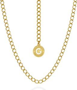 GIORRE SREBRNY NASZYJNIK ŁAŃCUSZEK CHOKER ROMBO 925 : Długość (cm) - 55, Kolor pokrycia srebra - Pokrycie Żółtym 24K Złotem