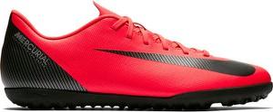 Czerwone buty sportowe Nike sznurowane w sportowym stylu mercurial