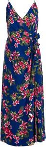 Sukienka Tommy Hilfiger bez rękawów z dekoltem w kształcie litery v w stylu casual