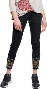 Czarne jeansy Desigual z bawełny w stylu casual