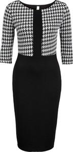 Sukienka bonprix BODYFLIRT boutique w stylu klasycznym midi z okrągłym dekoltem
