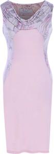 Sukienka Fokus z dekoltem woda bodycon w stylu glamour