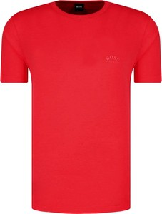Czerwony t-shirt BOSS Casual