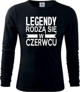 Czarna koszulka z długim rękawem TopKoszulki.pl