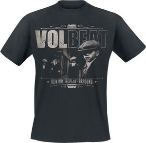 Czarny t-shirt Volbeat z krótkim rękawem z bawełny