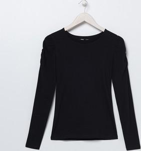 Czarna bluzka Sinsay w stylu casual z okrągłym dekoltem