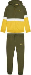 Zielony dres dziecięcy Diadora z dzianiny
